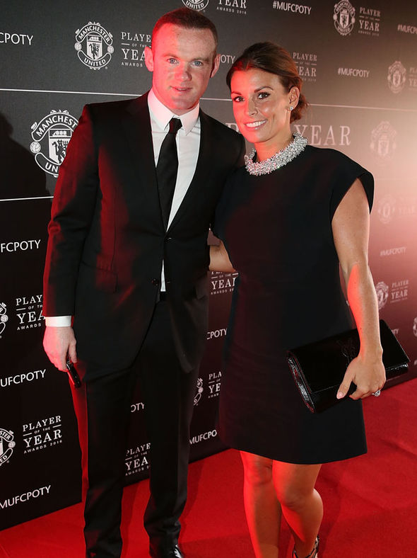 Coleen and Wayne Rooney on red carpet