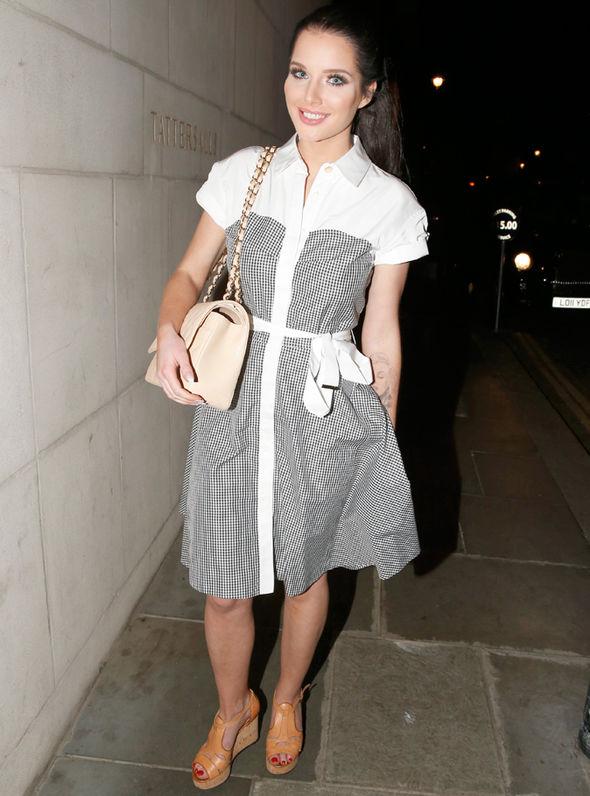 Coronation Street Helen Flanagan Rosie Webster nipples PVC housewife