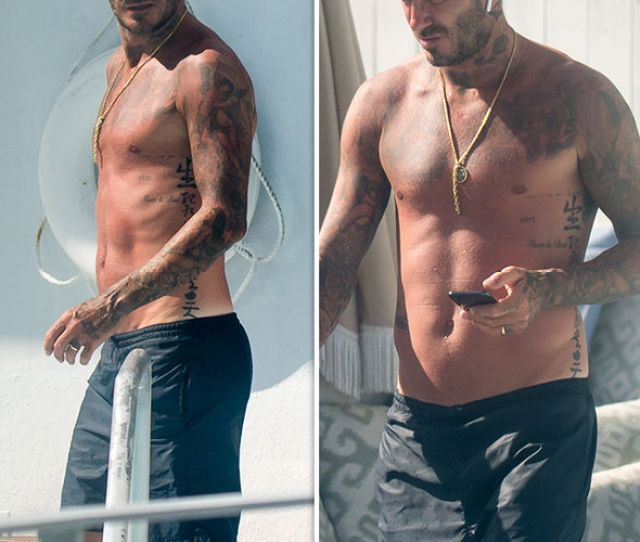 David Beckham Miami Star Is Topless In Pictures