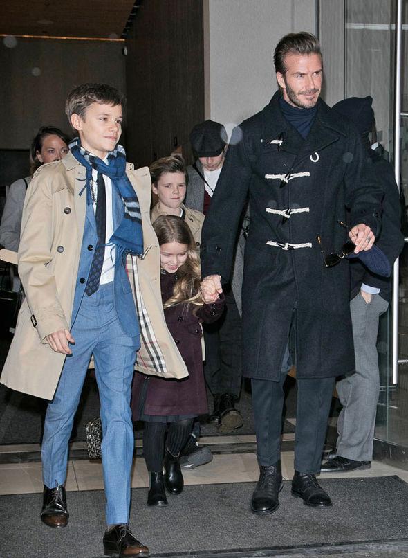 David Beckham Victoria NYFW