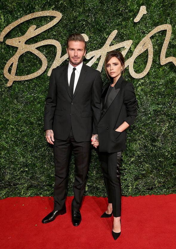 David and Victoria Beckham on red carpet
