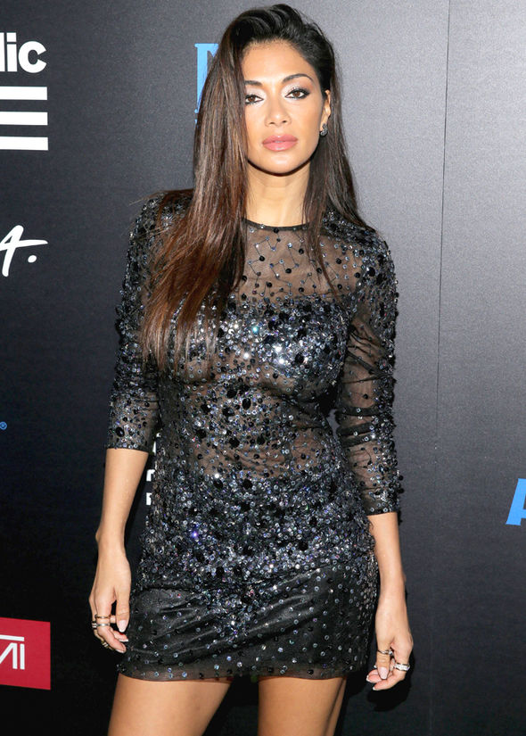 Grammys 2017 Nicole Scherzinger sideboob after party
