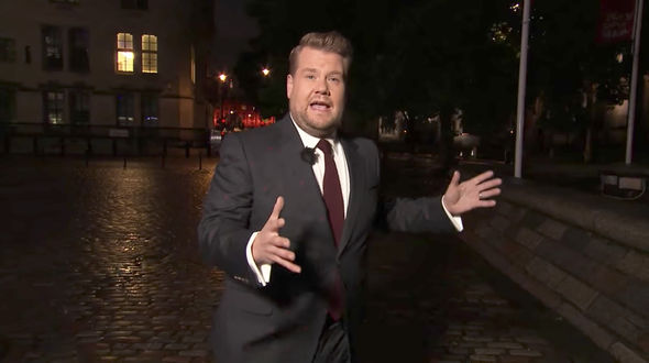 James Corden admitted London is his