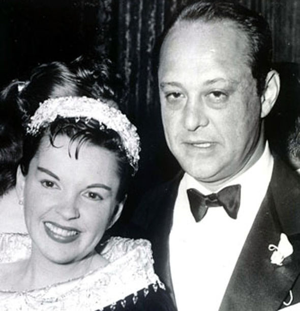 Judy Garland with her third husband Sid Luft
