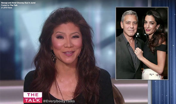 Julie Chen George and Amal Clooney