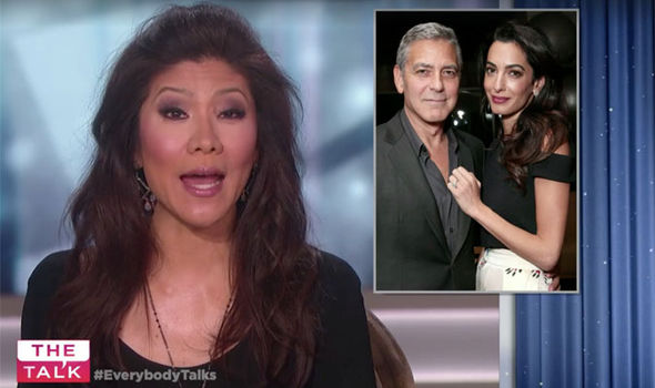 The Talk host Julie Chen breaks the news about George and Amal Clooney