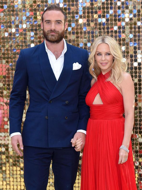 Kylie Minogue and Joshua Sasse