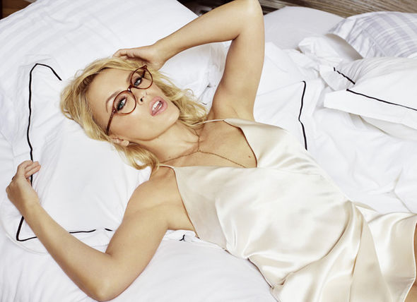 Kylie Minogue in bed