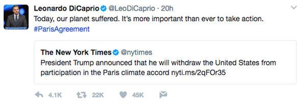 Leonardo DiCaprio tweet
