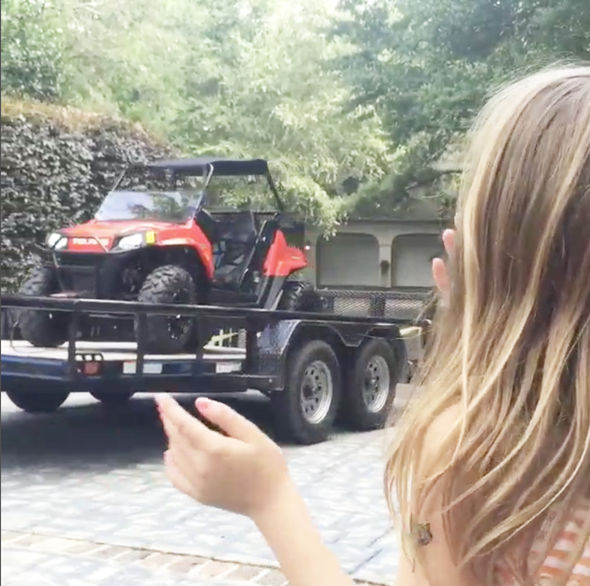 Maddie appeared to get an ATV for her birthday