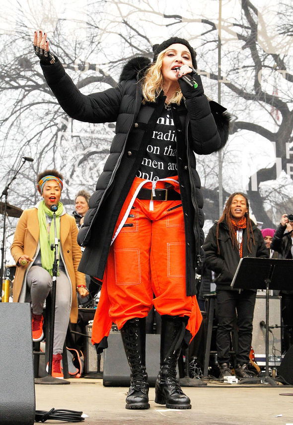 Madonna has said she is not a 'violent person'