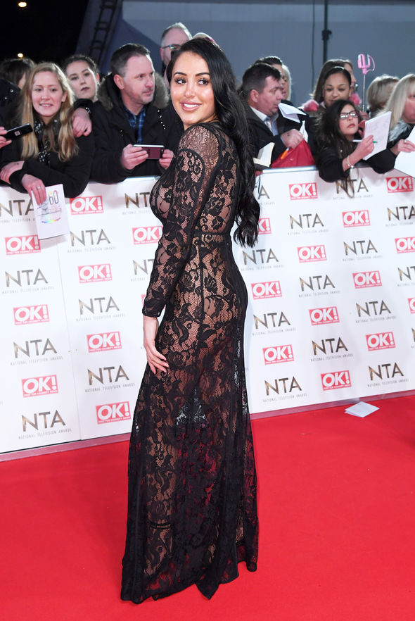 Marnie wore the sheer dress on the red carpet