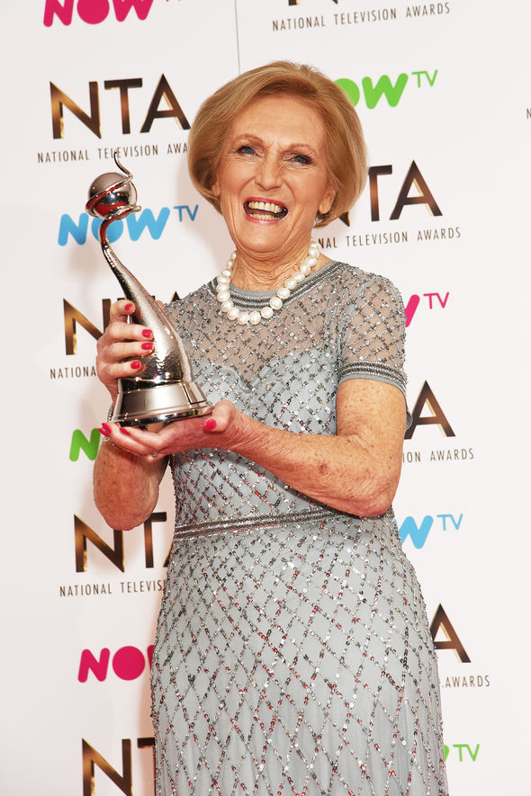 Mary Berry National Television Awards 2017