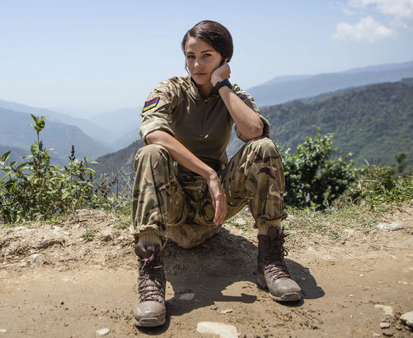 Michelle as Georgie Lane in Our Girl