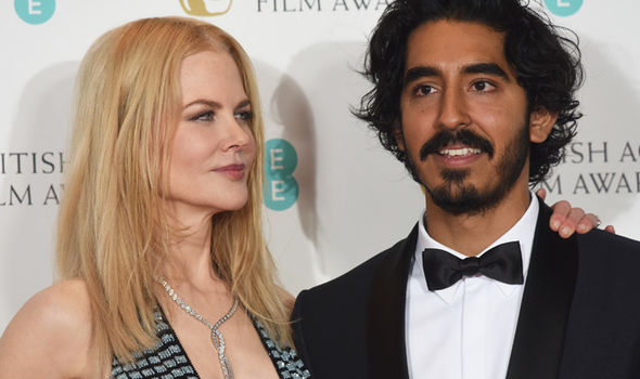 Nicole Kidman and Dev Patel at the BAFTAs 2017