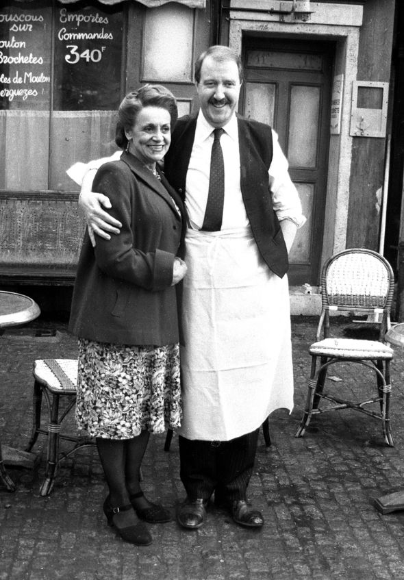 Rene with his wife Edith