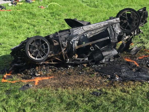 Richard Hammond Grand Tour car crash crutches