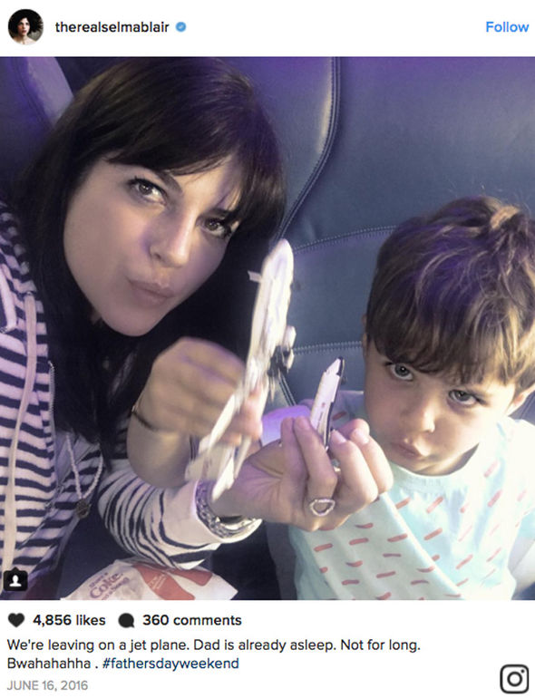 Selma Blair and son Arthur
