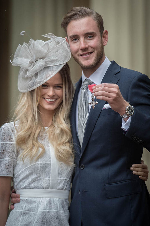 Stuart Broad with Bealey Mitchell