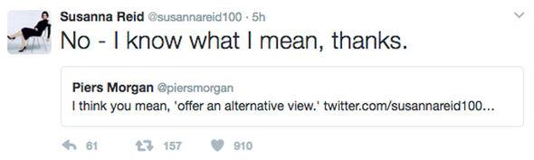 Susanna Reid Piers Morgan Twitter spat