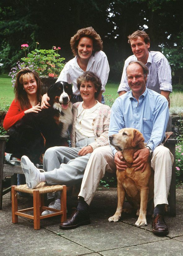 Young Tara Palmer-Tomkinson with her family