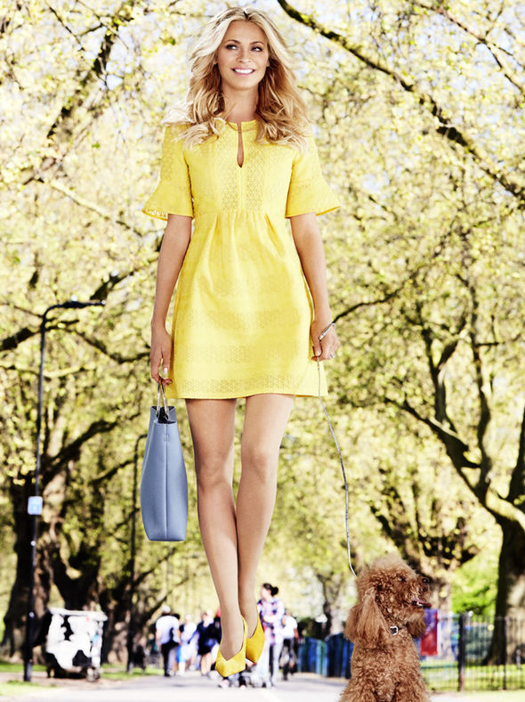 Tess Daly in the park