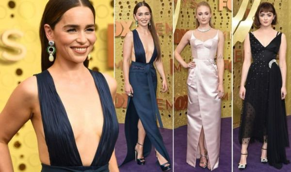 Game of Thrones stars Emilia Clarke, Sophie Turner and Maisie Williams wow at Emmys 2019