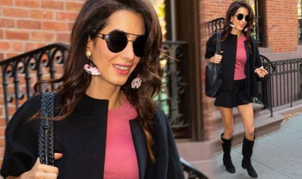 Amal Clooney puts on leggy display for NYC date with George Clooney on 5th anniversary