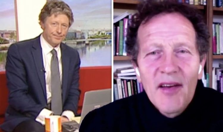 Monty Don reacts after BBC's Charlie Stayt questions his absence from garden 'I'm out!'