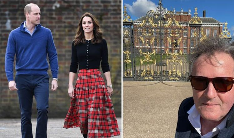 Piers Morgan declares he's 'team palace' in selfie outside Prince William and Kate's home