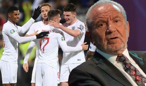 'No chance!' Lord Sugar risks sounding 'unpatriotic' as he blasts England's Euros hopes