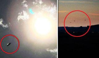 Resultado de imagen de eclipse ufo