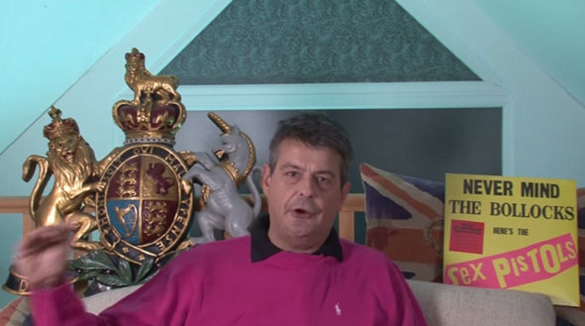 David Taylor in still from his video when he also ranted about the Queen and UK common law
