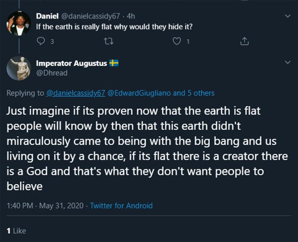 SpaceX launch: Tweets about Flat Earth