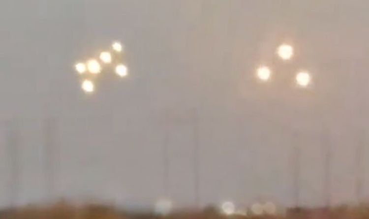 ufo fleet over an arizona desert