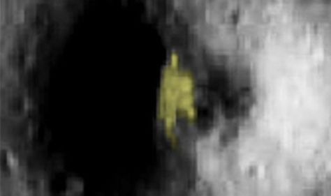 Alien base on the Moon claim by conspiracy theorists who believe ETs could be contacted