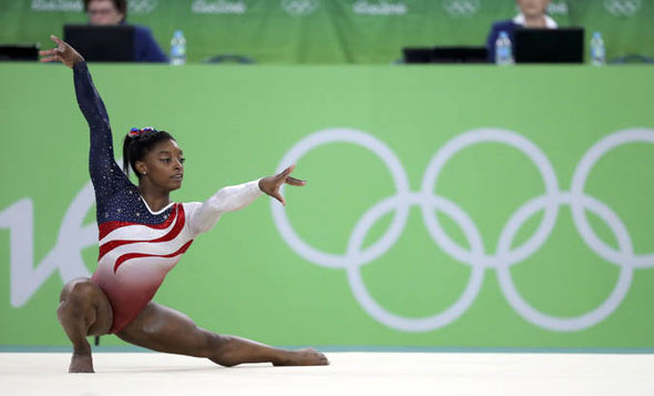 Image result for simone biles olympics floor reuters
