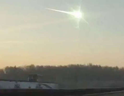 Broken glass hit scores of people near the Ural region of Russia as a meteor streaked across the sky