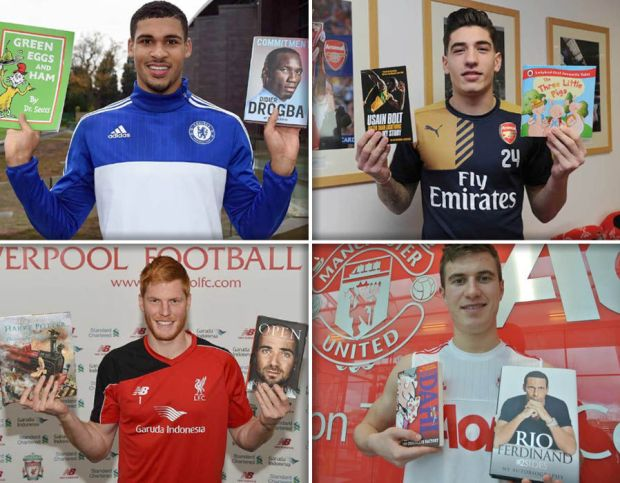 One player from every top-flight team has put forward their favourite children and adult books as part of the 2016 Premier League Reading Stars initiative with the National Literacy Trust, and there are some very surprising choices...
