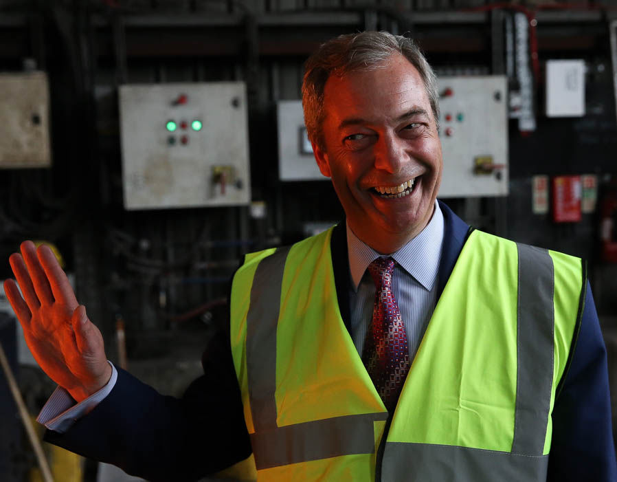 Nigel Farage visits TIVAC Steel & Alloys Sheffield