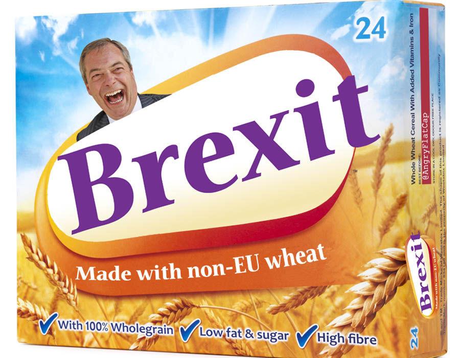 This meme see's Nigel Farage advertising cereal