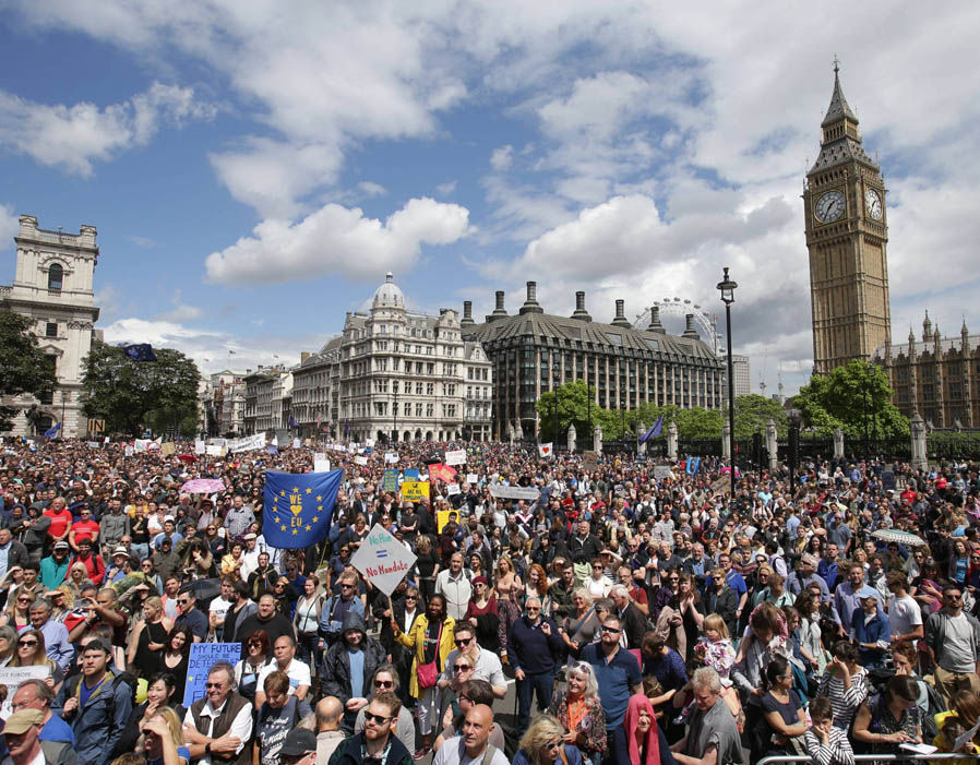 Thousands Take To The Streets AGAIN In Anti Brexit Rally