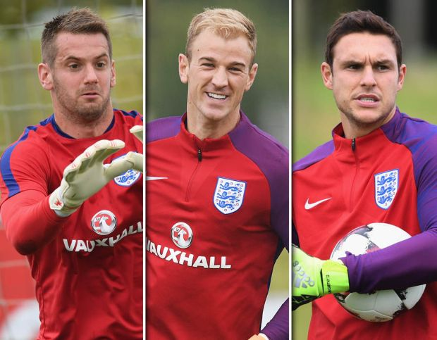 Express Sport brings you the best pictures from England's latest training session as the Three Lions prepare to take on Slovakia on Sunday