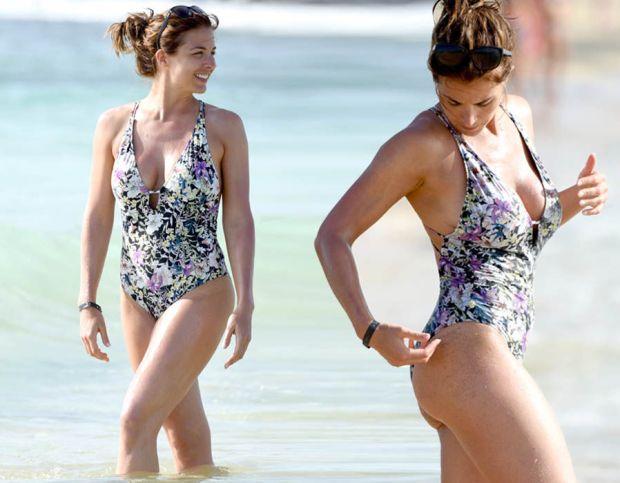 Gemma Atkinson flaunts beach body in Cape Verde