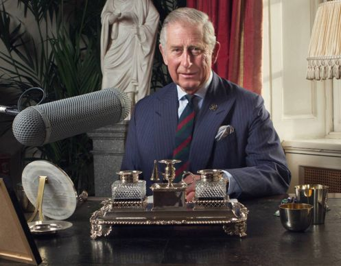 Prince of Wales in Clarence House, London as he records a special message for BBC Radio 4's Just a Minute as it enters its 50th anniversary year which will be aired on Christmas Day