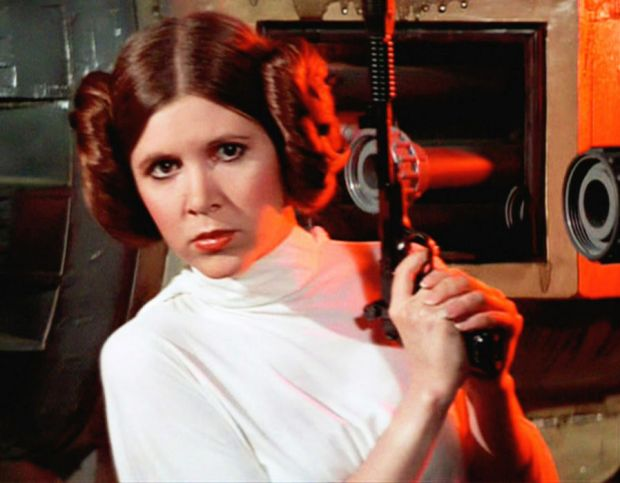 Carrie Fisher as Princess Leia in Star Wars
