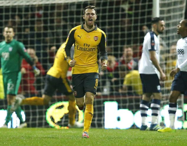 CM: Aaron Ramsey - 6: Changed the momentum of the game with his goal but still failed to impress overall