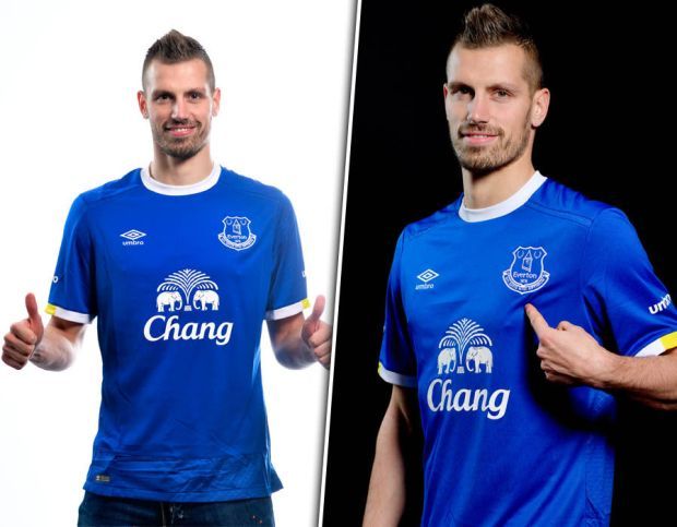 Everton unveil Morgan Schneiderlin
