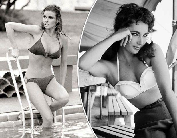 Hollywood icons Raquel Welch and Elizabeth Taylor