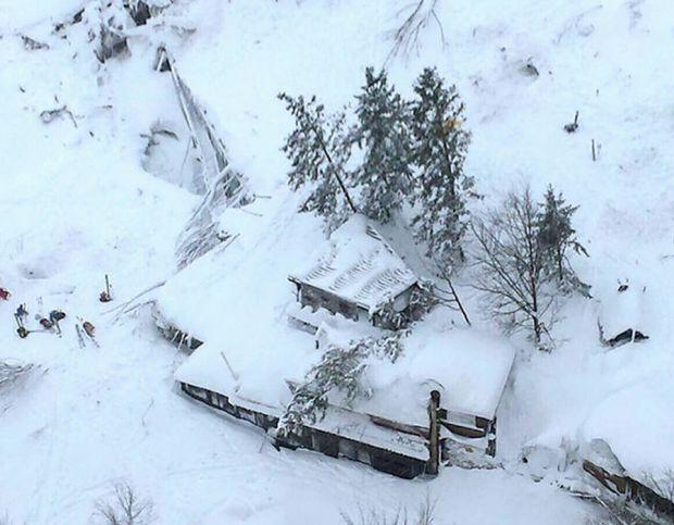 An avalanche buried the Hotel Rigopiano in Abruzzo.